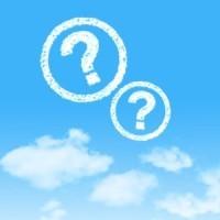 Skyer med grafiske spørsmålstegn