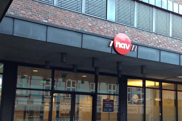 Foto fra NAV-kontor på Tøyen fra utsiden. Vi hjelper deg om du har fått avslag på NAV-klage.